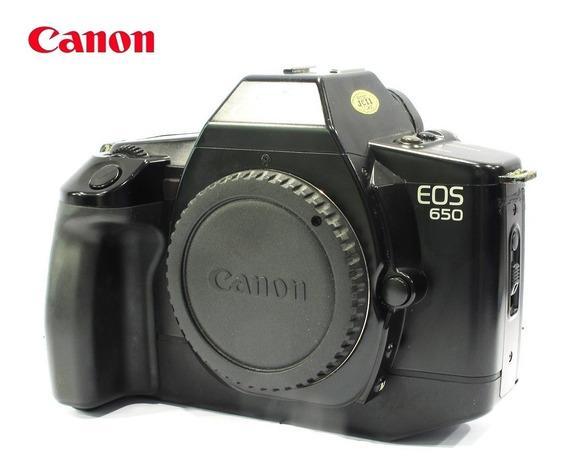 Câmera Canon Eos 650 Reflex 35mm Analógica - Só O Corpo