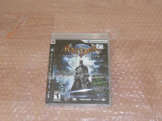 Batman Arkham Asylum - Ps3 - Lacrado De Fábrica - Black Label - Frete R$ 17