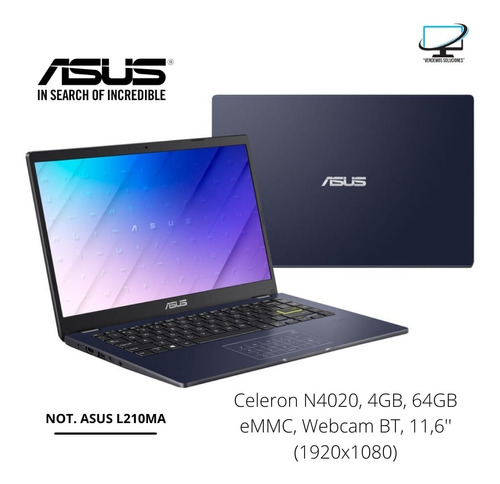 Notebook Asus L210ma Intel Celeron