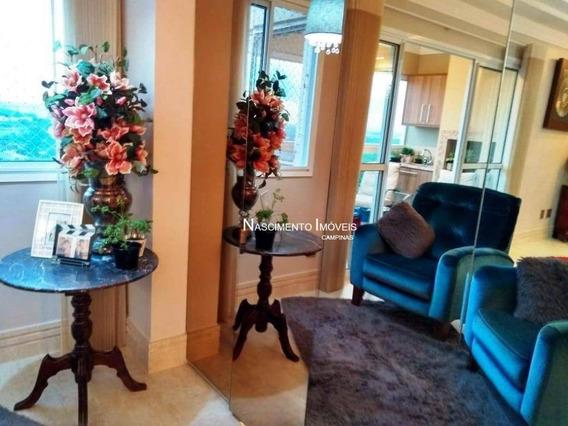 Apartamento Com 3 Dormitórios À Venda, 123 M² Por R$ 1.280.000 - Mansões Santo Antônio - Campinas/sp - Ap0517