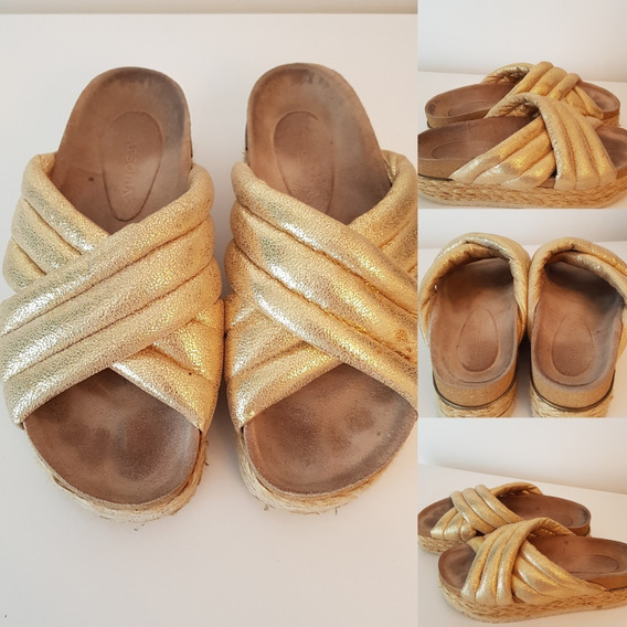 Zapatos Plataformas Rapsodia Talle 38 Dorado