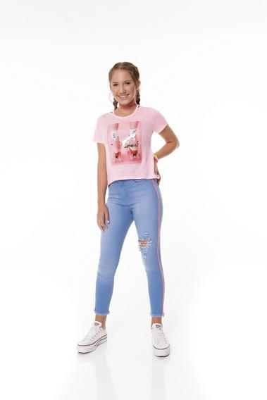 Blusa Vanilla Cream Rosa Neon Patins