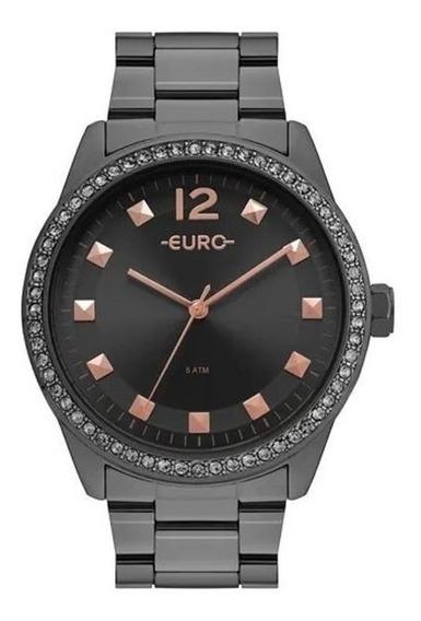 Relógio Euro Feminino Construções Grafite Eu2035yrn/4c