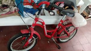 Bici Aurorita Roja Con Rueditas