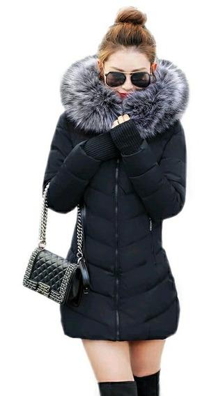 Chamarra Abrigo De Invierno Para Dama Tallas 2xs A Xl Calientito Tolera -5° C Guantes Bolsas Y Pelaje *no Viene Reducido