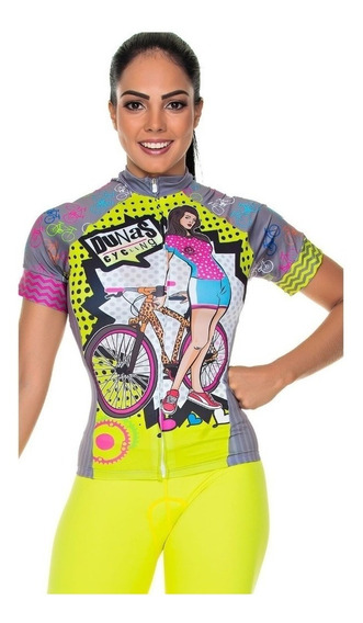Camisa Feminina Manga Curta Dunas Cycling Bike Promoção