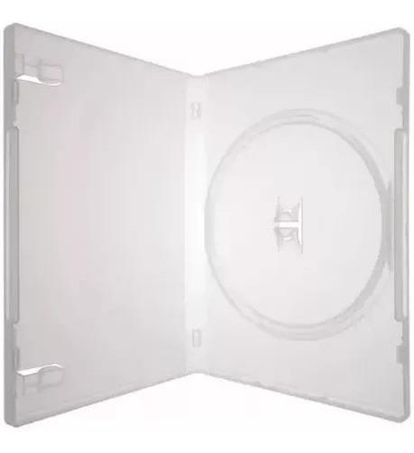 Box Capa Dvd 100 Capinhas Estojo Transparente 1 Linha