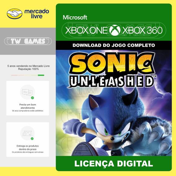 Sonic Unleashed Digital Retrocompativel Xbox One Xbox 360