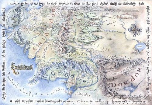 Mapa Terra Media 63x90cm Sr. Dos Anéis