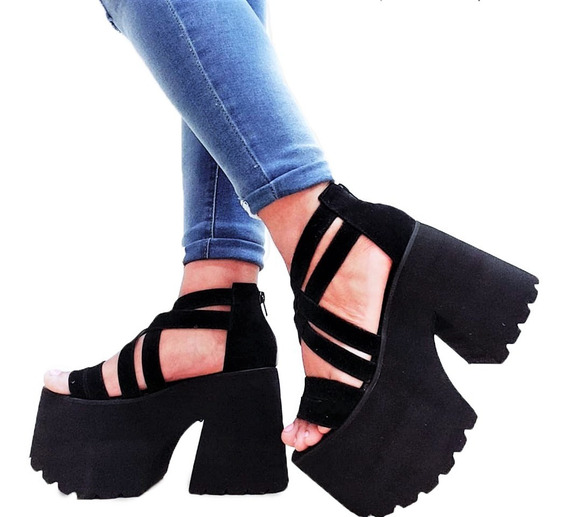 Sandalias Dama Fiesta Zapatos Mujer Livianos Pulsera Plataforma Comoda Liviana 07