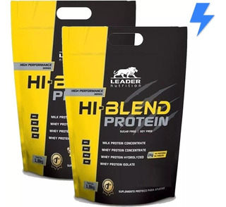 Kit 2 X Whey Hi Blend 1.8kg - Leader - Isolado + Hidrolisado