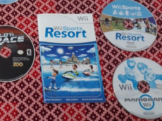 Mario Kart E Wii Sports Resort Originais