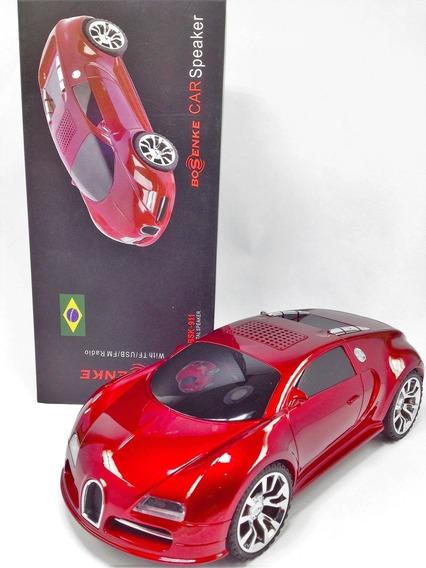 Caixa De Som Bugatti Veyron - Radio Fm - Som Stereo - Usb