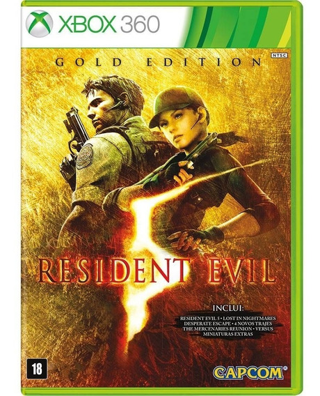 Xbox 360 Resident Evil 5 Gold Edition Lacrado C/ Nota Fiscal