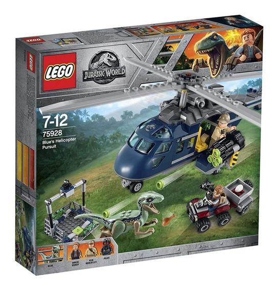 Lego Jurassic - A Perseguição De Helicóptero 75928 Original