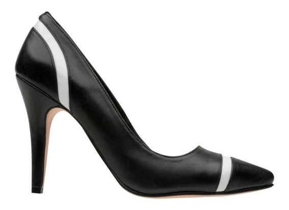Zapatilla Salón Negro/blanco Colores Marca Charlotte