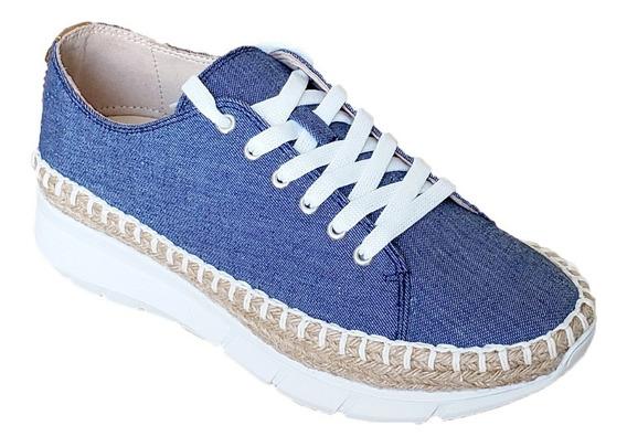 Hispana Zapato Para Dama Azul Mezclilla 6508