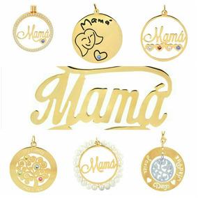 9ea729f9bdde Dijes Personalizado De Oro Laminado Para Mamá
