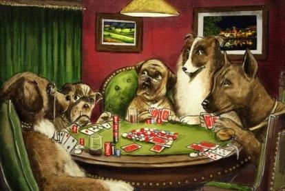 Perros Jugando Al Poker - Mascotas - Lámina 45x30 Cm.
