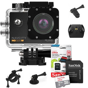 Action Camera Wifi Foto 4k Similar Go Pro Wifi +sandisk 16gb
