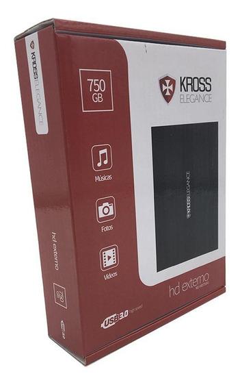 Hd Externo Portátil Kross 750 Gb Usb 3.0 Ke-hd750u - Kross E