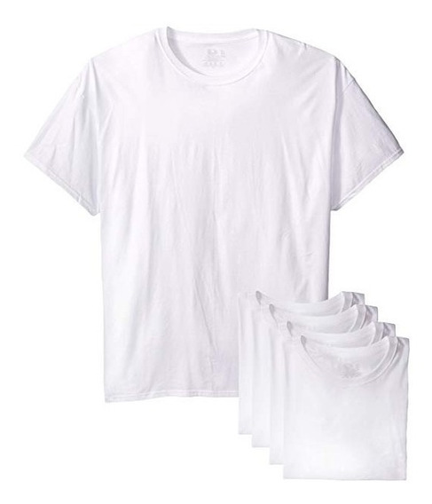 Camiseta Playera Fruit Of Loom Cuello Redondo 2xl 5 Piezas