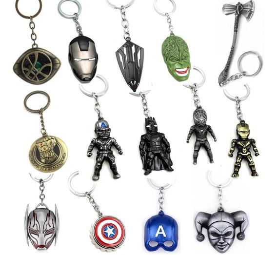 Llavero Infinity War Vengadores Marvel Dc Comics Metalico