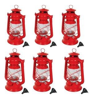 Kit 6 Quinqué Lámpara De Petróleo Pretul