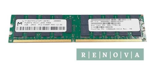 Imagem 1 de 1 de Memória Micron 16gb ( 4gbx4 ) 2rx4 Pc2 5300p Mt36htf51272py