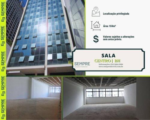 Imagem 1 de 26 de Sala À Venda, 104 M² E 02 Vagas - Centro - Belo Horizonte/mg - Sa0104