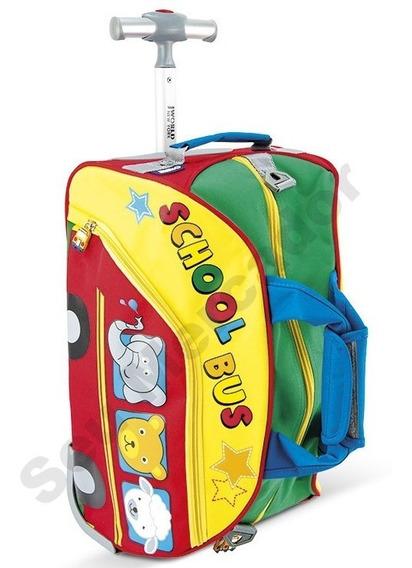 Mala Bolsa Para Criança Viagem Bordo Com Rodinhas Colorida