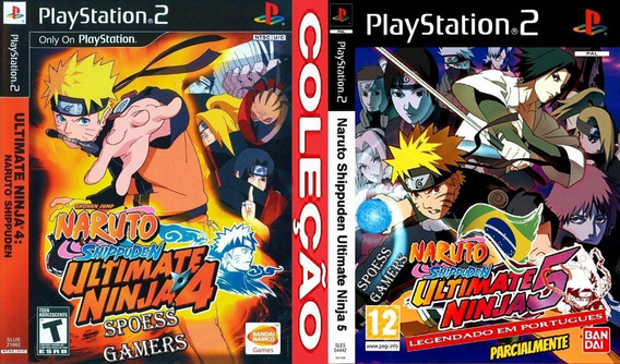 Naruto Shippuden 4 E 5 Ps2 (2 Dvds) Patch