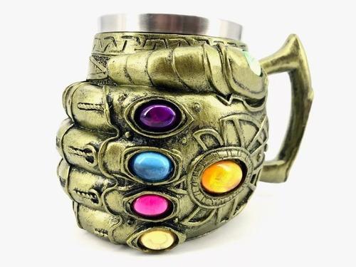Caneca Thanos Manopla Do Infinito 3d Vingadores Geek