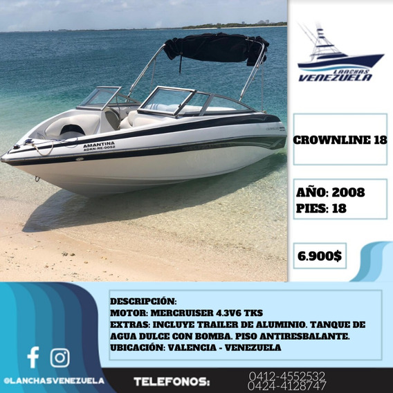 Lancha Crownline 18 Lv354