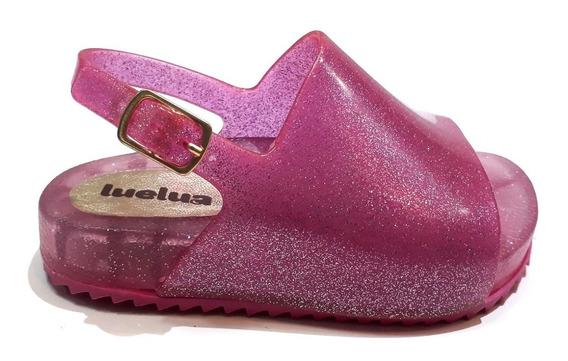 Sandália Menina Luelua Infantil Rosa Glitter Led Compre Já