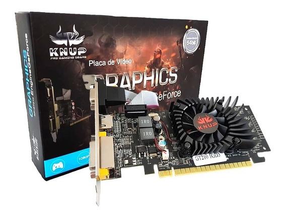 Placa De Vídeo Nvidia Geforce Gt 210 1gb Hdmi 64bits Ddr3 Nf