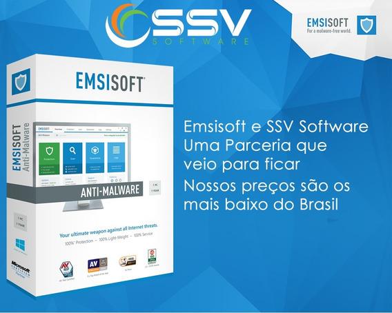 Emsisoft Antimalware 1 Ano 1pc Original