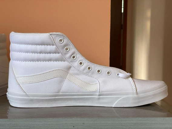 Tênis Vans Sk8-hi- Branco - Tam 48 - Importado De Londres