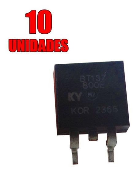 10x Transistor - Triac Montado - Bt137-800e To-263 - Smd
