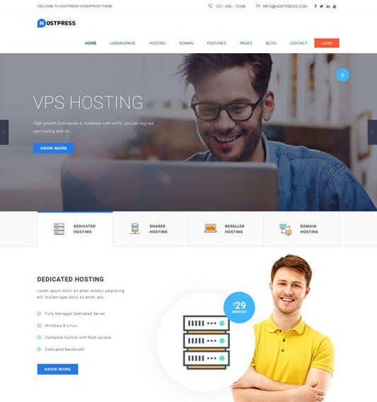 Hostingpress Web Hosting Html5 Template