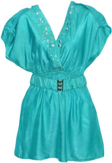 Blusas Unicolor Para Damas Manga Corta
