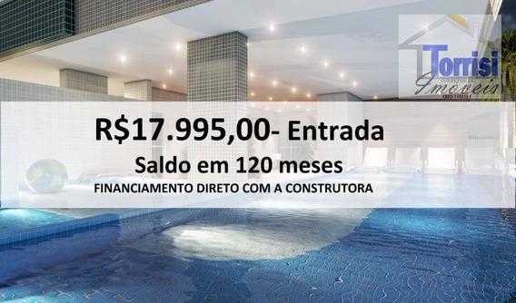Apartamento Em Praia Grande, 03 Dormitórios Sendo 01 Suíte, Canto Do Forte, Ap2420 - Ap2420