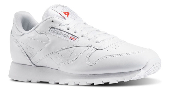 Tenis Reebok Classic Leather Blancos Casuales Hombre