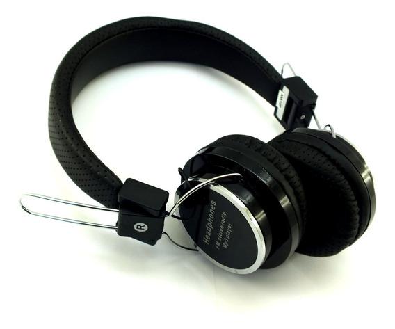 Fone Ouvido Headphone Stereo B-05 Preto Radio Mp3 Sem Fio Bluetooth Fm P2 A11260