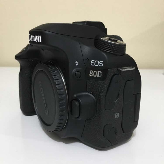 Câmera Dslr Canon 80d (corpo) - Semi-nova, Excelente Estado