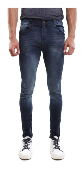 Pantalón Hombre Corte Skinny Color Azul Lob