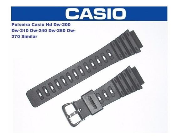 Pulseira Casio Hd Dw-200 Dw-210 Dw-240 Dw-260 Dw-270