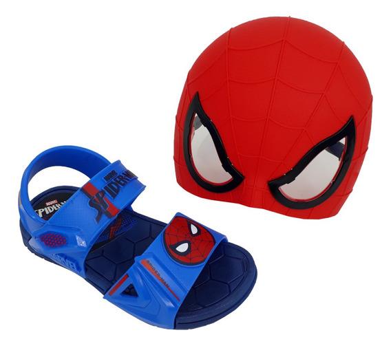 Sandália Infantil Grendene Menino Spider Man Com Óculos