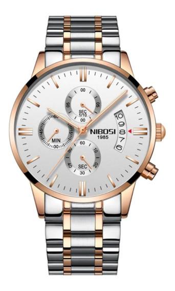 Relógio Nibosi Masculino Original Alta Qualidade Promoção Br