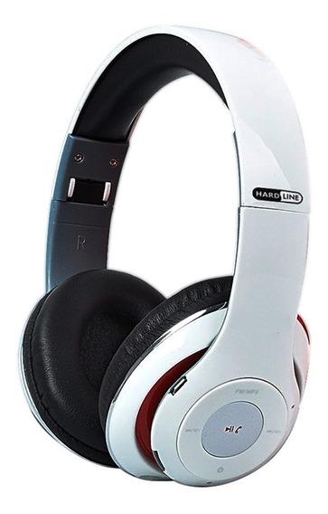Fone De Ouvido Bluetooth Sem Fio Hardline Tm-010 Sd Branco